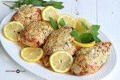 Lemon Parmesan Chicken ~ http://www.southernplate.com