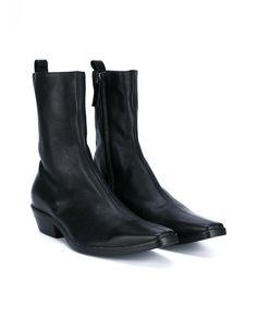 HAIDER ACKERMANN Leather Cowboy Boots. #haiderackermann #shoes #boots
