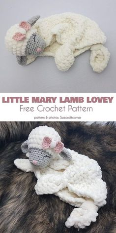 Little Mary Lamb Lovey Free Crochet Pattern A. Kuscheltiere – Amigurumi Free Crochet Little Lamb Lovey Pattern Crochet For Kids, Free Crochet, Knit Crochet, Crochet Mittens, Crochet Lovey Free Pattern, Mittens Pattern, Free Knitting, Crochet Dragon Pattern, Baby Cocoon Pattern