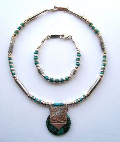 Polo turquoise necklace & bracelet