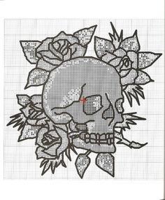 Skull cross stitch 3