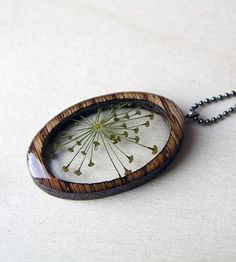 Dill Flowers & Wood Necklace by BuildWithWood on Scoutmob Shoppe