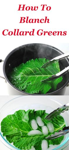 How To Blanch Collard Greens ~ This is so easy and takes less than 5 minutes to do. These are perfect for creating healthy wraps, etc.