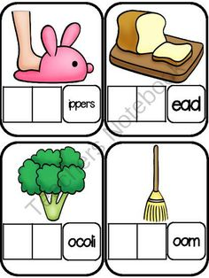 blends and digraphs word work cards