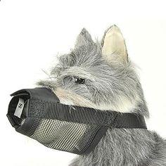 Mkono Adjustable Dog/puppy Muzzle,stop/anti Biting Barking Nipping Chewing Mesh Mask,breathable Fit Dog Muzzle Mesh with Adjustable Straps (M) - www.thepuppy.org/...