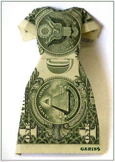 Dollar Origami Dress