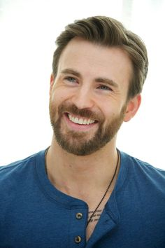 Chris Evans Smile & Tattoo Peek