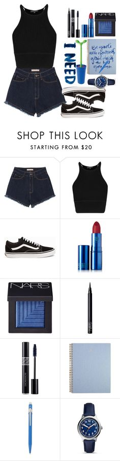 """Untitled #227"" by luchimahone ❤ liked on Polyvore featuring Vans, Lipstick Queen, NARS Cosmetics, Christian Dior, Caran D'Ache, FOSSIL and Alessi"
