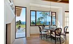 This property at 1231 Padre Lane in Pebble Beach. Pictured: breakfast area.