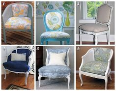 Inspiration from images pinned by Colleen from Southern Ontario, Canada.  Kalina Blog: Cane Sided Barrel Chair