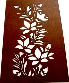 Rare Collectors Vintage Japanese Cutout Paper Stencil Flowers Plants Leaves Artistic Item for Usage or Framing No7