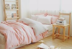 lovely pink bedding