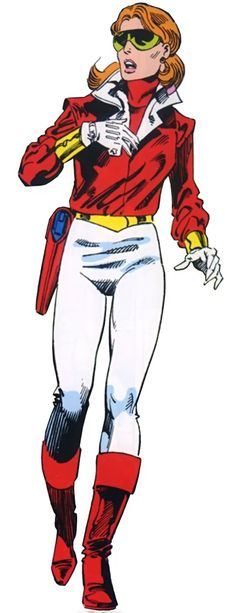 Heather MacDonald Hudson of Alpha Flight before adopting the Vindicator alias and body armor from her husband Guardian (John Byrne)