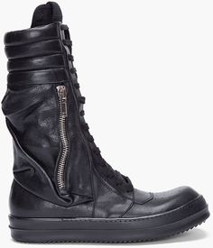 Rick Owens Black Cargo Basket Boots in Black for Men