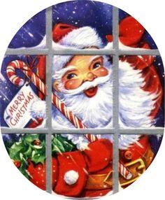 santa, window, quilt inspiration