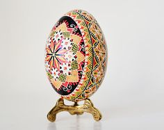 Best seller Etsy oldest shop Traditional Ukrainian Easter egg hand painted with beeswax hollow chicken egg Pysanky by Toronto artist Katya – Pysanky Ukranian Easter Eggs – Katya Trischuk Egg Shop, Carved Eggs, Etsy Handmade, Handmade Gifts, Easter Egg Designs, Good Luck Gifts, Ukrainian Easter Eggs, Egg Art, Chicken Eggs