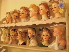 Lady head vases, would love to have these if I had room!