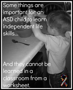 Independent life skills - more important than a worksheet?