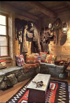As always, authentic, kitsch-free decor in an RRL cabin. Ralph Lauren Ranch.