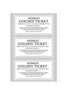 Free Printable Wonka Bar Wrappers | Your Golden Ticket ...