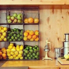 Small Kitchen Designs Dedicating a small wall to vertical storage can be a simple way to keep fresh fruits, potatoes Kitchen Wall Storage, Kitchen Organization, Kitchen Decor, Kitchen Ideas, Organization Ideas, Kitchen Vegetable Storage, Produce Storage, Fruit Storage, Smart Kitchen