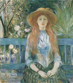 Berthe MORISOT (Bourges, 1841 - Paris, 1895). Jeune fille dans un parc, 1888-1893, huile sur toile. Inv. RO 708. Exposée, salon rouge. © Photo STC - Mairie de Toulouse