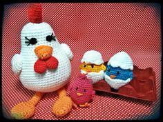 Gallina y sus pollitos