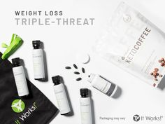 Most people are seeing great results with this weight loss triple-threat from It Works. Your results will vary. In this option you get the cleanse, ThermoFight X (with a clinically proven weight loss ingredient), and Keto Coffee. 2 Day Cleanse, Cleanse Detox, Losing Weight Tips, How To Lose Weight Fast, It Works Triple Threat, Ultimate Body Applicator, It Works Global, It Works Products, Transformation Tuesday