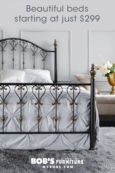 Create a focal point in your bedroom with a stunning bed frame with headboard. Looking for even more style? Shop my sleigh beds, storage beds and metal beds. Add a little coziness to your bedroom with an upholstered headboard. Small Room Bedroom, Bedroom Colors, Bedroom Sets, Bedroom Decor, Bed Room, Bedding Sets, Master Bedroom, New Beds, Headboards For Beds