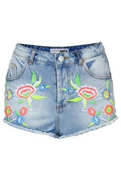 MOTO Bleach Floral Hotpants - Festival   - Clothing