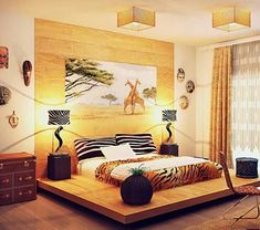 African interior design funky bedroom