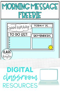 A morning message is a wonderful way to start the day! Keep students on task and focused with a colorful and customizable visual reminder. Update your message each day and project for students to see! 2nd Grade Classroom, School Classroom, Classroom Ideas, Elementary Schools, Primary Education, Special Education, Teaching Technology, Worksheets, Google Classroom