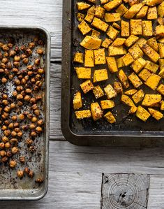 za'atar roasted butternut squash + chickpeas | what's cooking good looking