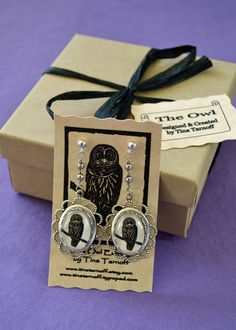 SALE 20% OFF // Limited Time Only // Coupon code: HOLIDAY20 - Owl Earrings. $45.00, via Etsy.