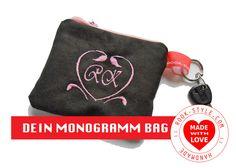 Schlüsseletuis - DESIGNER MONOGRAMM BAG CANVAS - ein Designerstück von Schlafbrille-ROOKStyle bei DaWanda