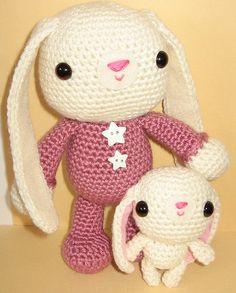 "Rosita in pajamas & her bunny :)  Pattern in ""Amigurumi Two"" by Ana Paula Rimoli"