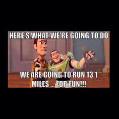 Run 13.1 for fun!!