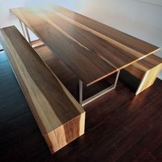 Modern Minimalist Dining/Conference Table Or Desk In Sun Tanned Poplar by Brandon Monk Munoz