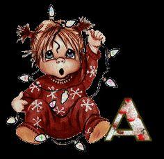 Alfabeto tintineante ternura navideña.