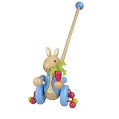 boys first birthday gift, peter rabbit pushalong