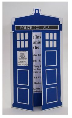 Dr Who Party Invitation INSTANT DOWNLOAD by CreativeLittleStars