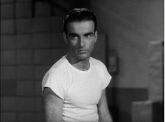 "The Magnificent Montgomery Clift: Monty is irresistibly sexy as he gets his flirt on and connects with co-worker Shelly Winters in this gif from ""A Place in the Sun"" 1951"