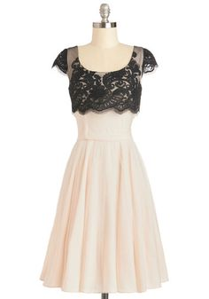 Breathtaking Belle Dress in Ivory, #ModCloth Reminds me of my senior year prom dress, only shorter :)