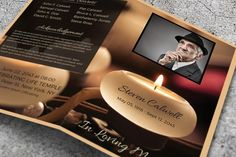 Word Funeral Template by Visual Impact on @creativemarket