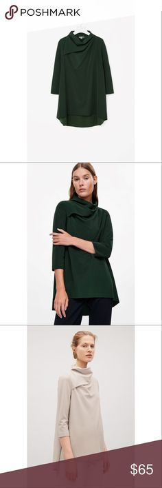 NWT COS Draped Blouse New, never worn. Beautiful top with luxurious draping. Brand is COS, which is a modern brand extremely popular in Europe. Tagging Aritzia because COS isn't an option on Poshmark. Aritzia Tops Blouses