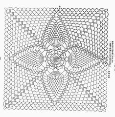 Diy Crafts - Crochet Doilies Chart Pineapple New Ideas Crochet Doily Rug, Crochet Bedspread Pattern, Crochet Cushions, Crochet Blocks, Granny Square Crochet Pattern, Crochet Pillow, Crochet Tablecloth, Crochet Diagram, Crochet Chart