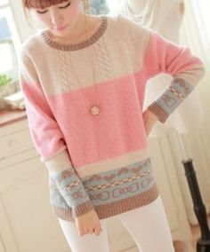 Find More Pullovers Information about 2014 Autumn and Winter Loose Pullover Sweater Korean Style Hand knitted Sweater Cardigan Women Tricot,High Quality Pullovers from Tina Fashion Woman Clothing Store Heart Sweater, Cable Sweater, Loose Sweater, Sweater Coats, Sweater Shop, Comfy Sweater, Sweater Cardigan, Handgestrickte Pullover, Pullover Sweaters