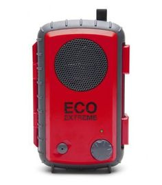 Grace Digital watertight speaker case- 30 Hour battery life- Shock proof- Floats- Polycarbonate outershell- Floating waterproof case (IPX-7)- Full range waterproof speaker- 2 Carabiner clip- Reinforced clamps- Large elastic mesh pocket- 3.5mm (1/8) audi