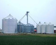 Grain Storage Bin Built By Devolder Farms