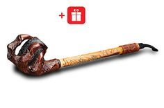 Wooden Smoking Pipes, Tobacco Pipe Smoking, Tobacco Pipes, Hookah Pipes, Long Pipe, Game Of Thrones Gifts, Smoking Bowls, Wooden Pipe, Dragon Claw
